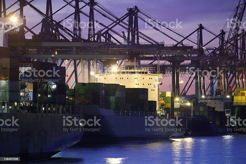 modern harbor, container terminal royalty-free stock photo