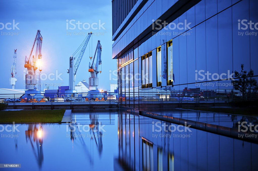 Modern Harbor stock photo