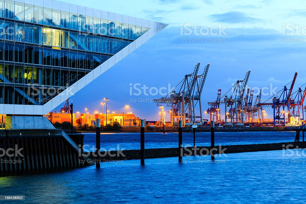 Modern harbour - office building royalty-free stock photo