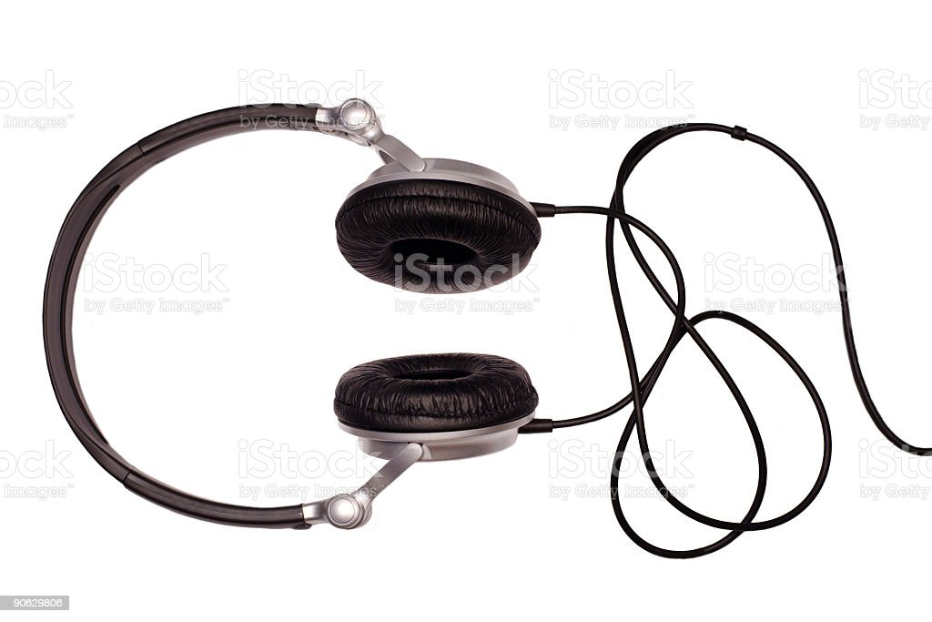 modern headphones royalty-free stock photo