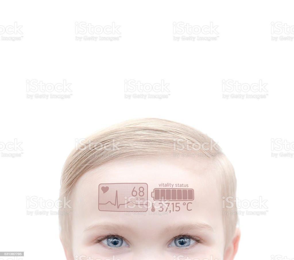 modern healthy child stock photo