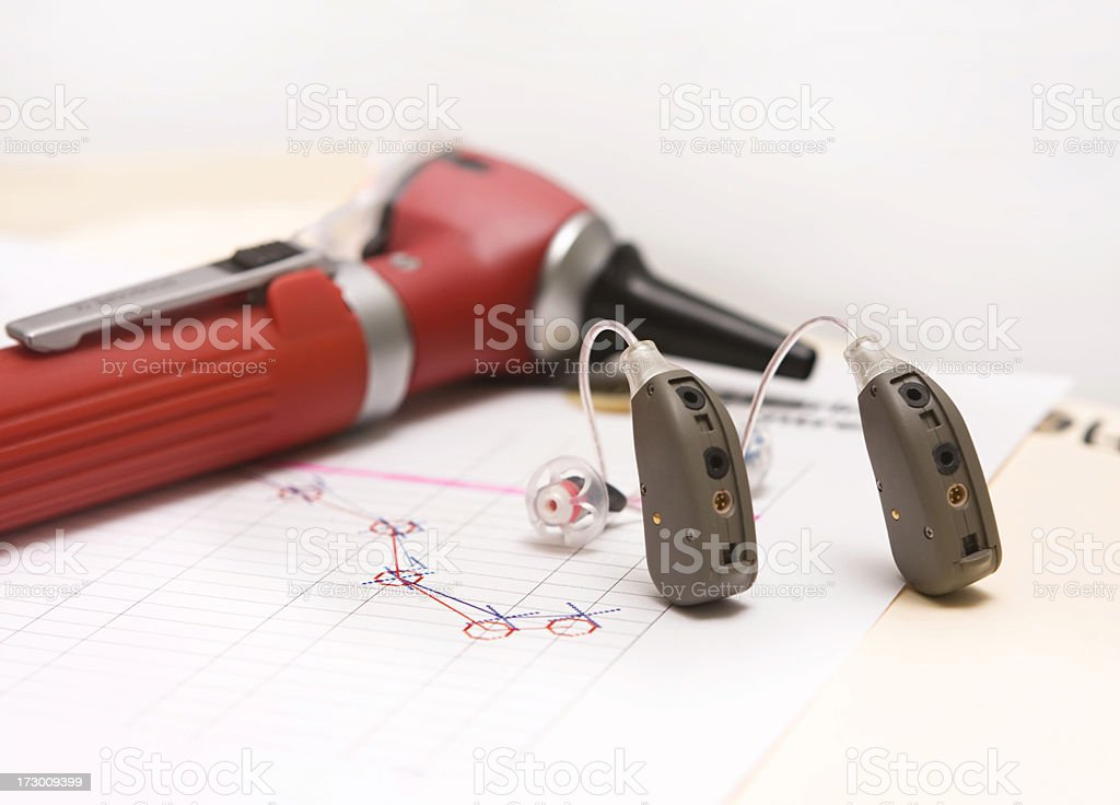 Modern Hearing Aids royalty-free stock photo