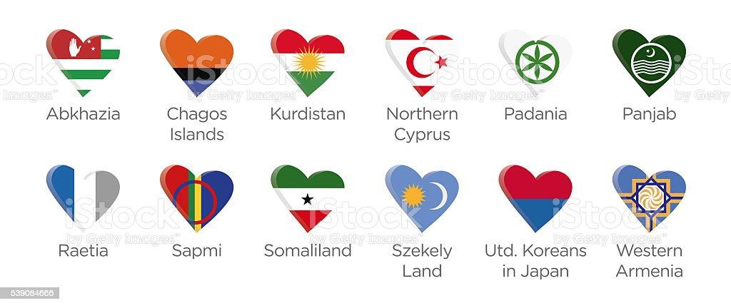 Modern heart icon symbols soccer tournament of abkhazia 2016 stock photo