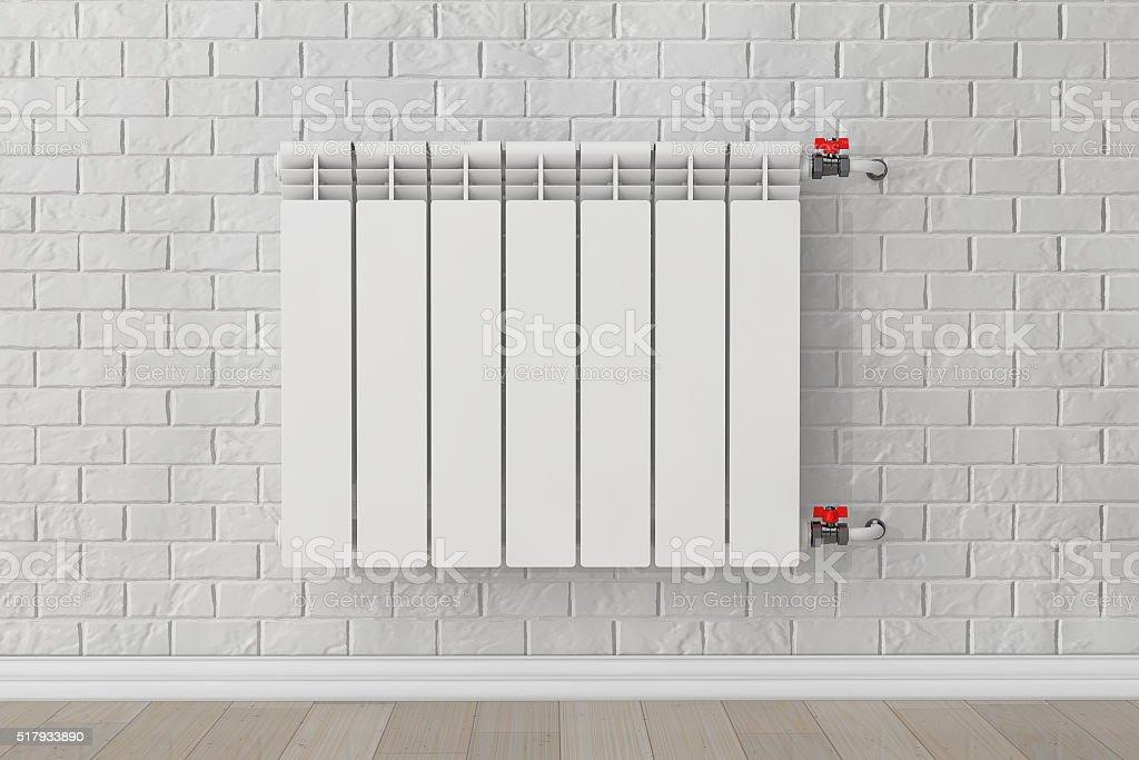 Modern Heating Radiator stock photo