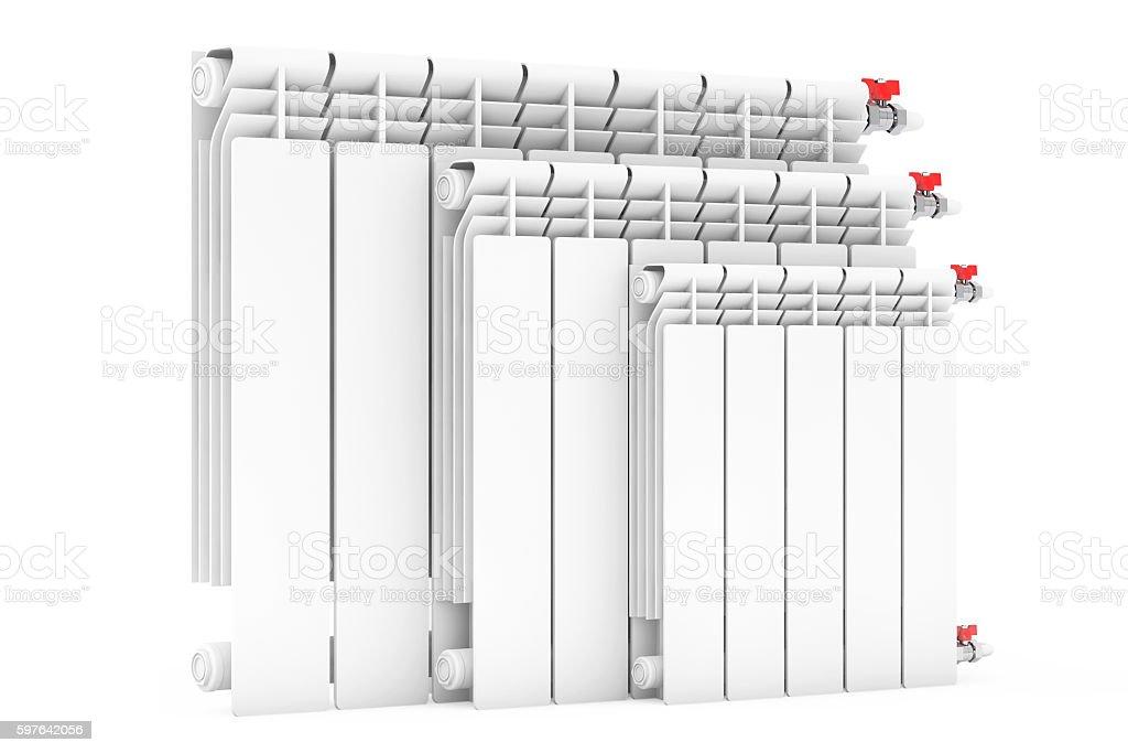 Modern Heating Radiators. 3d Rendering stock photo