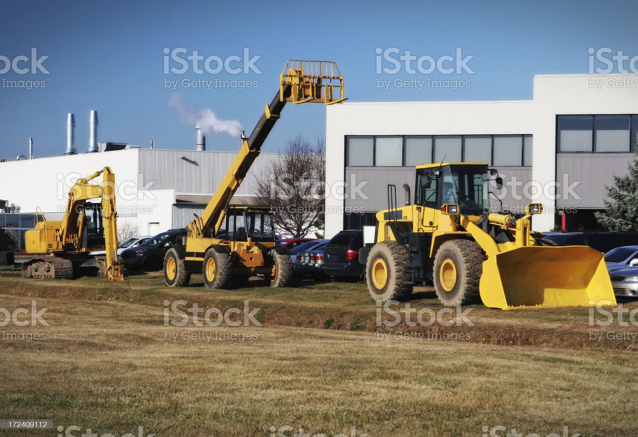 Modern Heavy Machinery royalty-free stock photo
