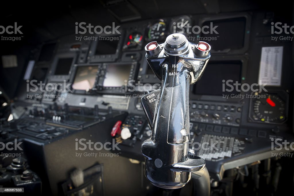 Modern Helicopter Cockpit stock photo
