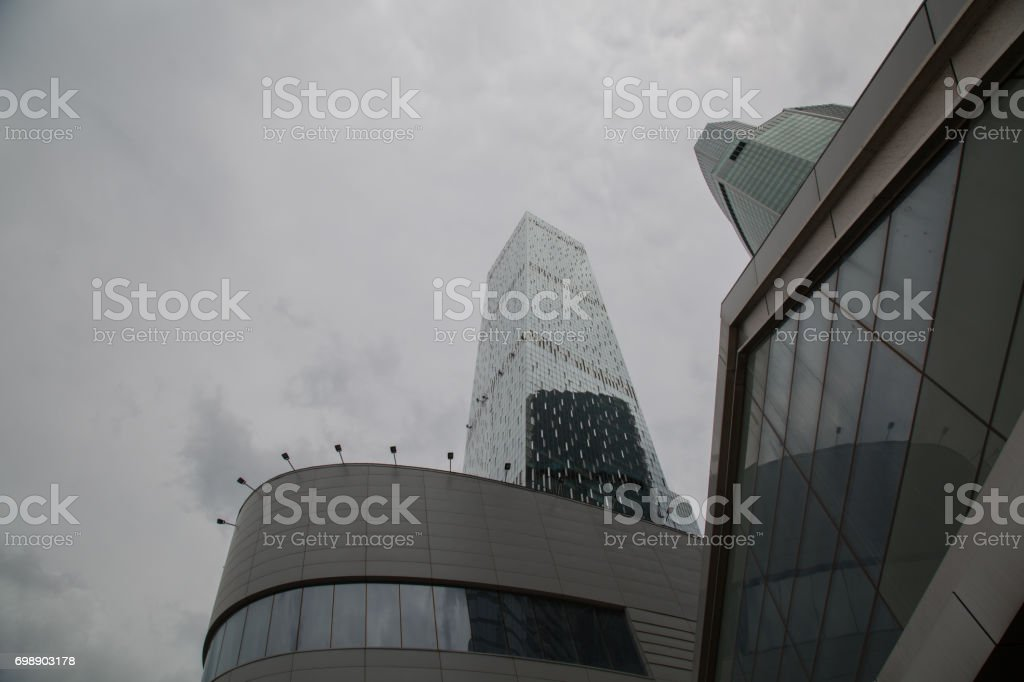 Modern high end district Russian capital stock photo