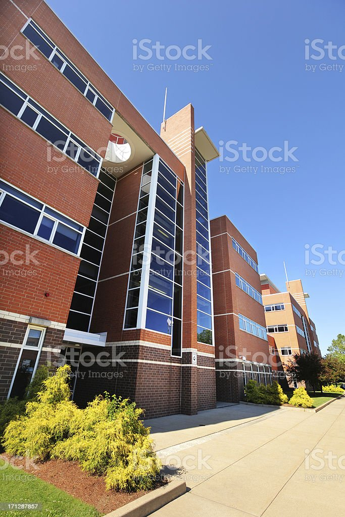 Modern High School Building royalty-free stock photo