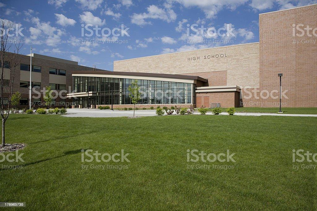Modern High School stock photo