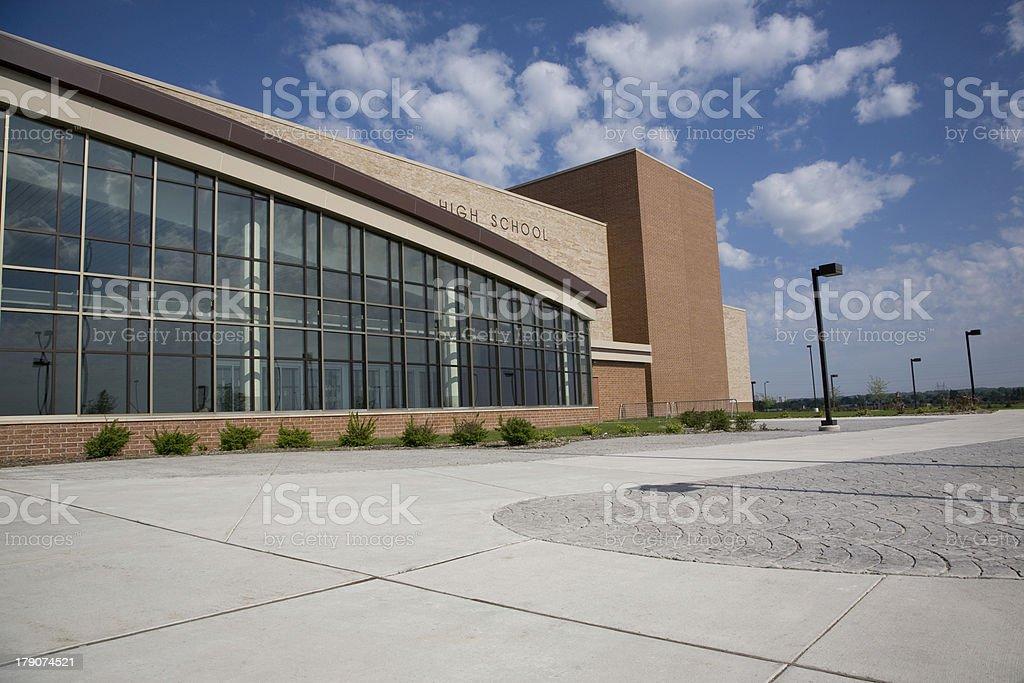 Modern High School royalty-free stock photo