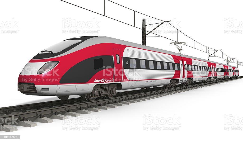 Modern high speed train stock photo
