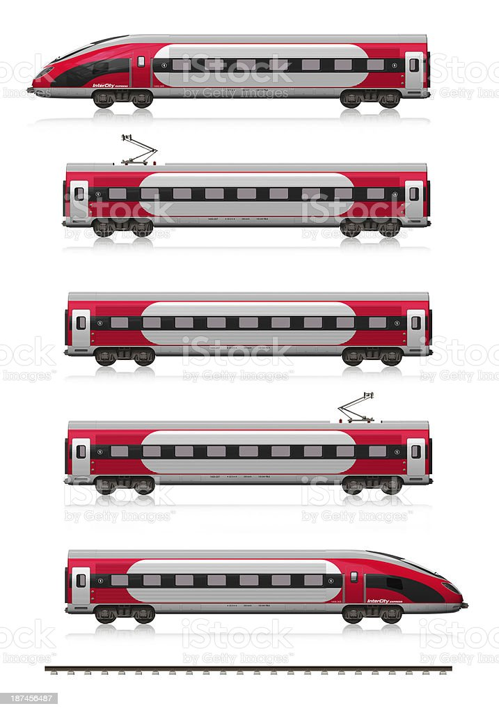 Modern high speed train set stock photo