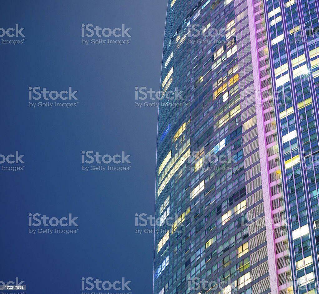 Modern highrise building pattern royalty-free stock photo