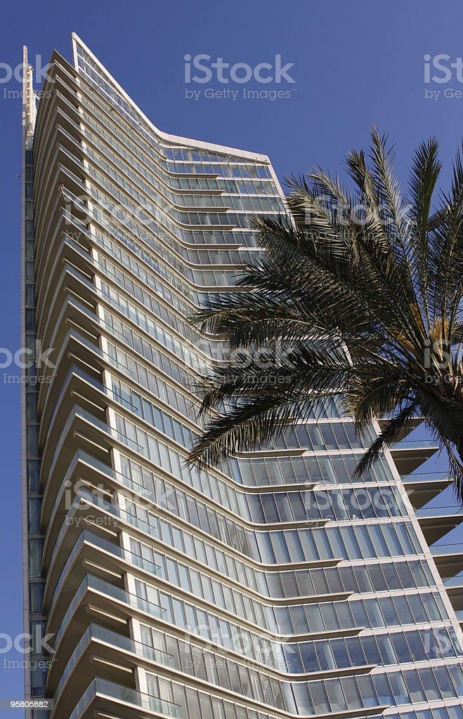Modern high-rise tower in Beirut/Lebanon royalty-free stock photo