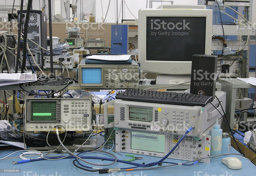 Modern Hightech Testing Equipments stock photo