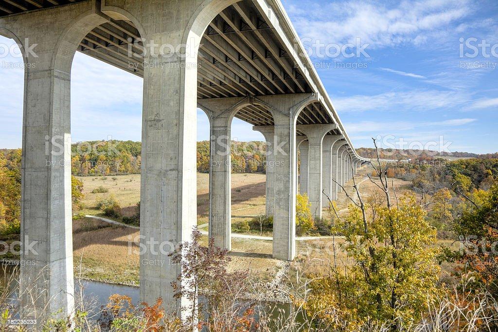 Modern Highway Bridge stock photo