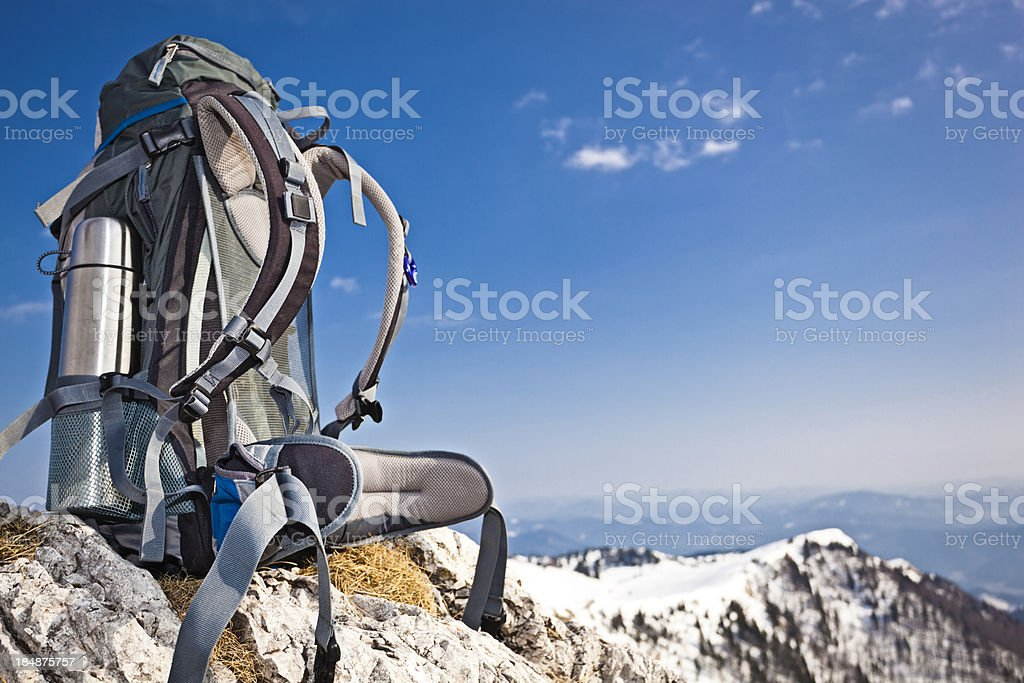 modern hiking rucksack royalty-free stock photo