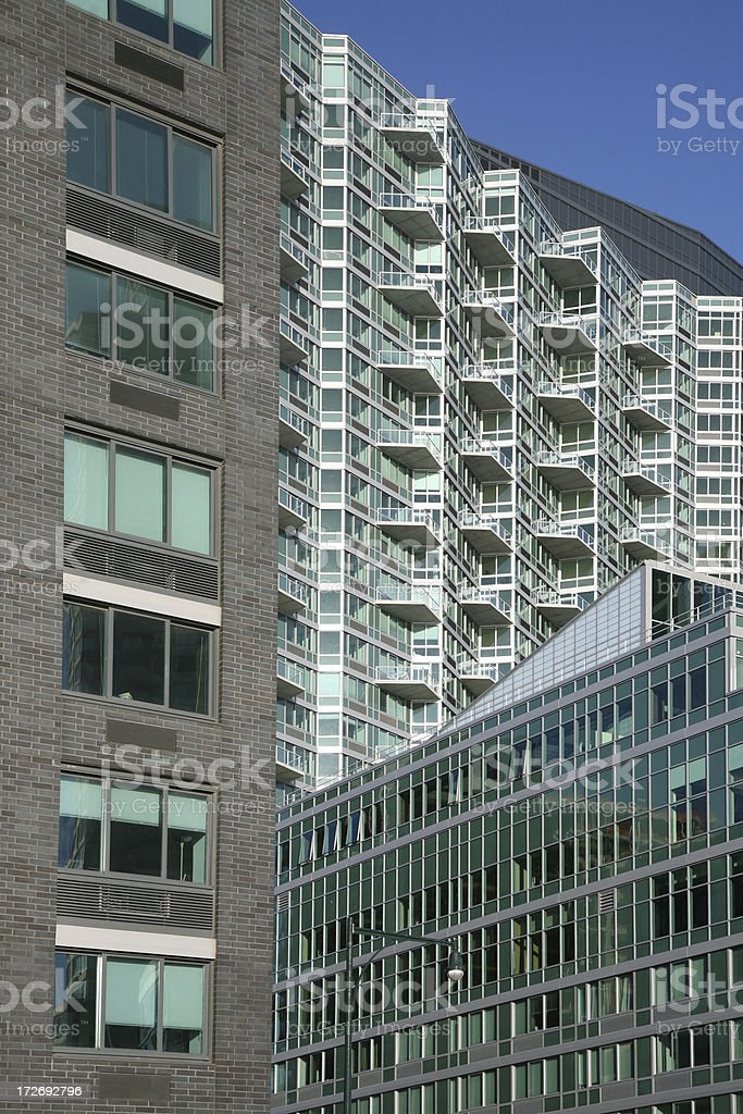 Modern Hi-Rise Apartments royalty-free stock photo