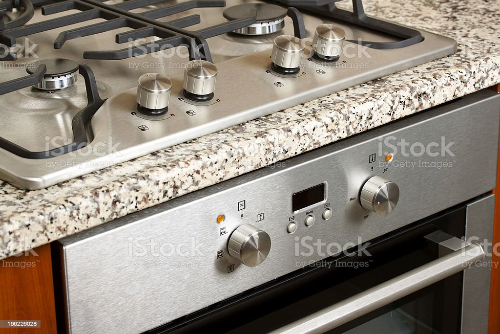 Modern Hob and Oven stock photo