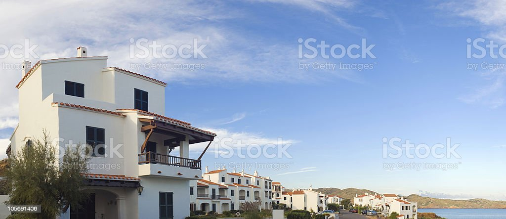 Modern Holiday beachfront villas royalty-free stock photo