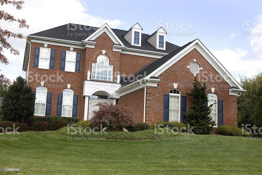 Modern Home Dream House in Suburbs stock photo