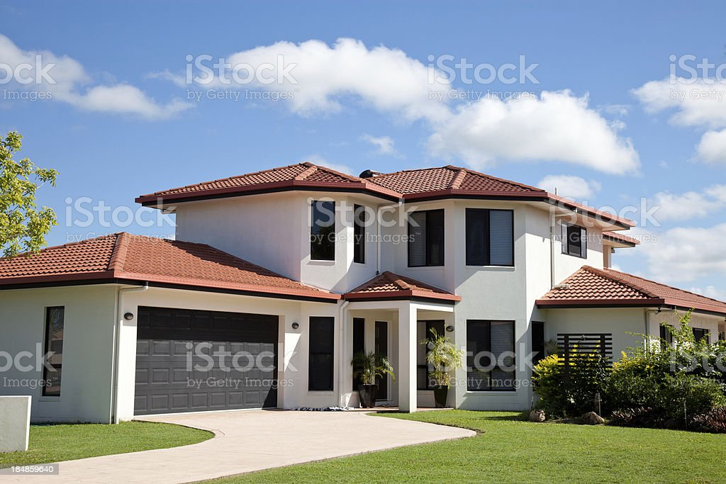 Modern Home Front royalty-free stock photo