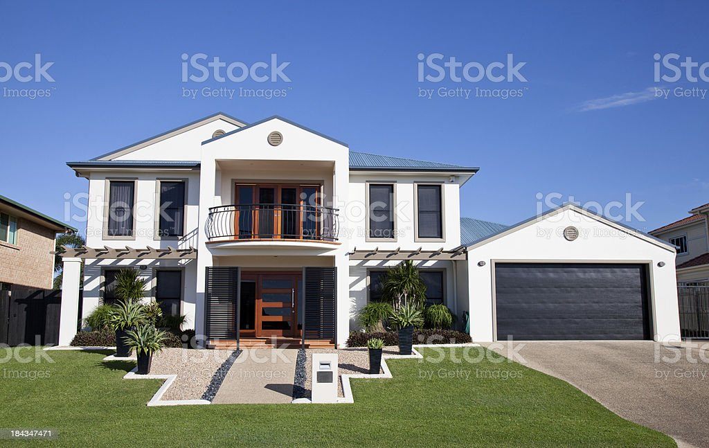 Modern Home Frontage stock photo
