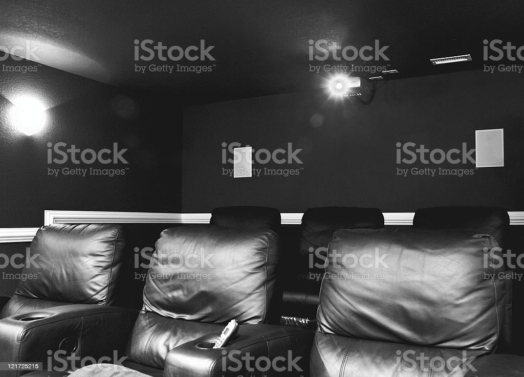 Modern Home Theater royalty-free stock photo