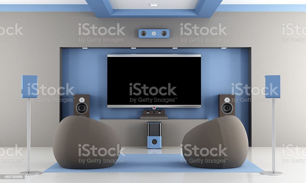 modern home theater stock photo