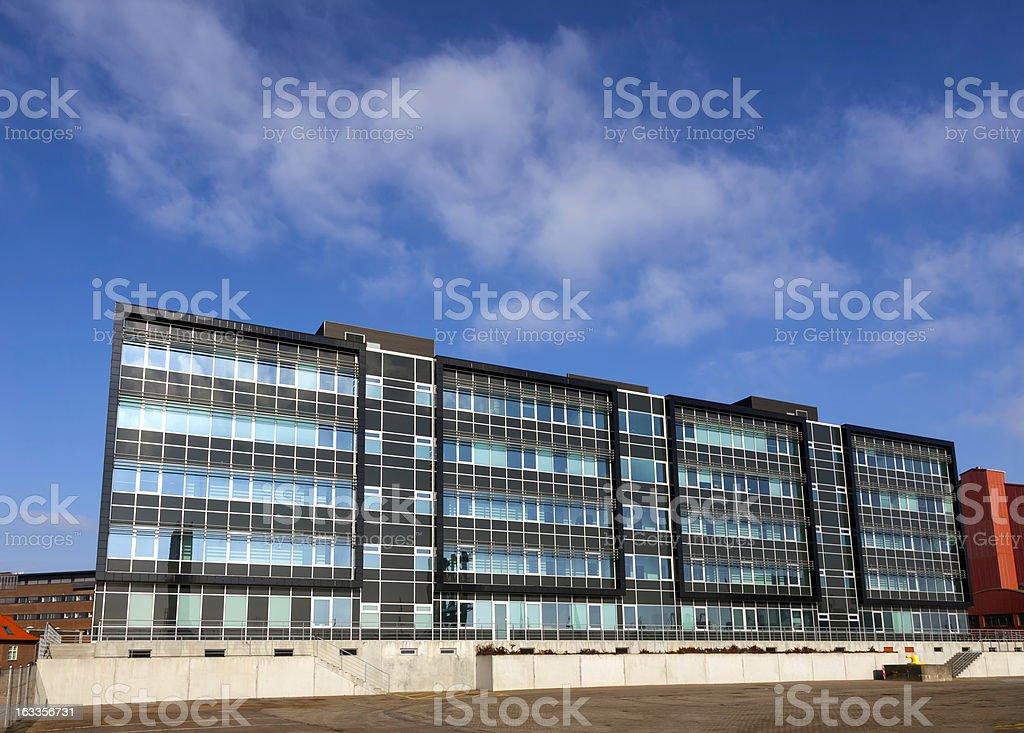 Modern homes in the Dokken harbor at Esbjerg, Denmark royalty-free stock photo