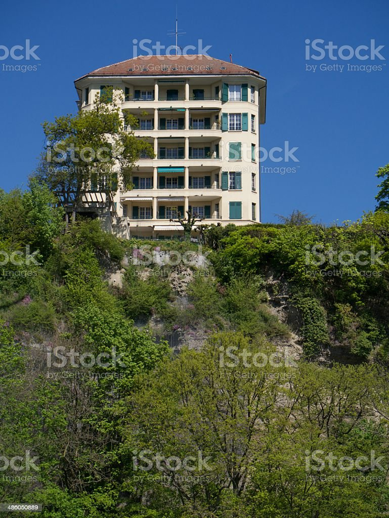 modern homes suisse royalty-free stock photo
