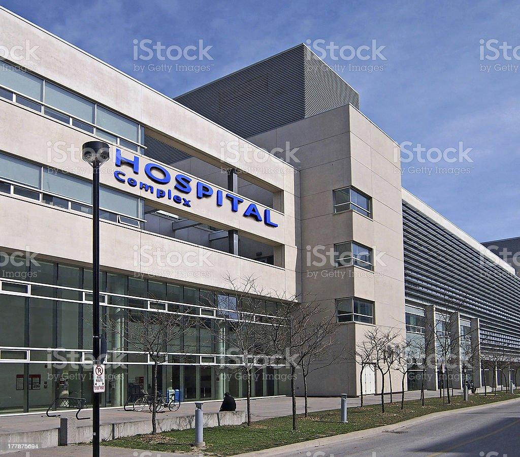 Modern hospital building stock photo