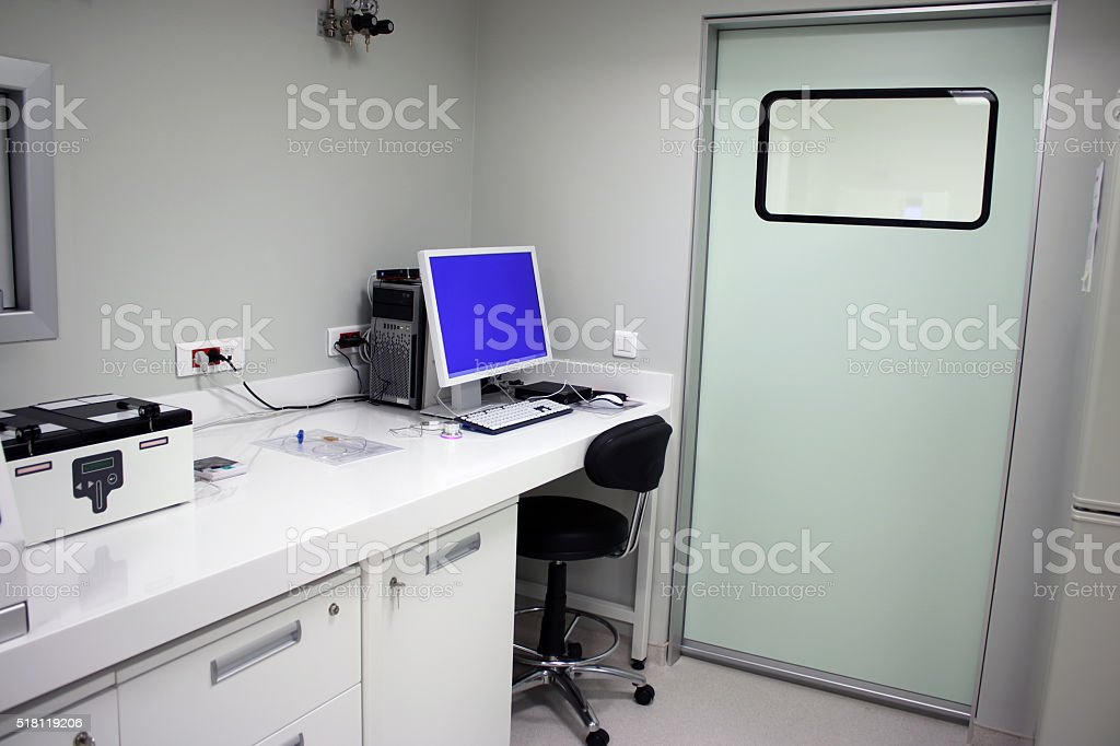 Modern Hospital laboratory stock photo