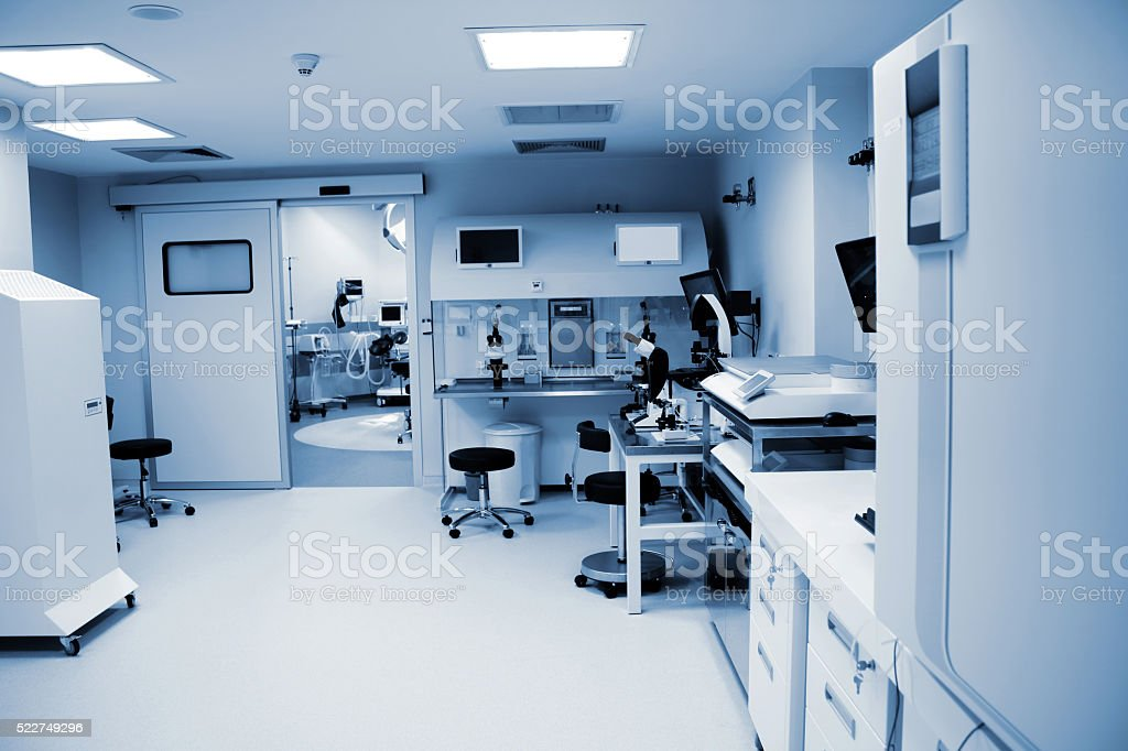 Modern Hospital laboratory stock photo