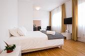 Modern hotel apartment interior