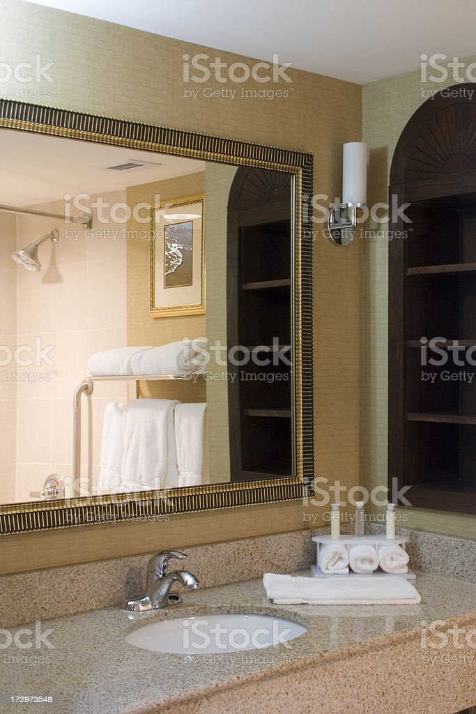 Modern hotel bathroom stock photo