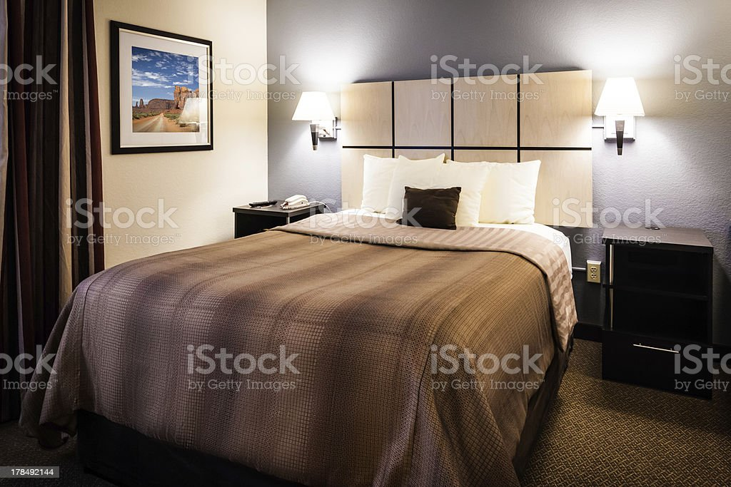 Modern Hotel Bedroom royalty-free stock photo