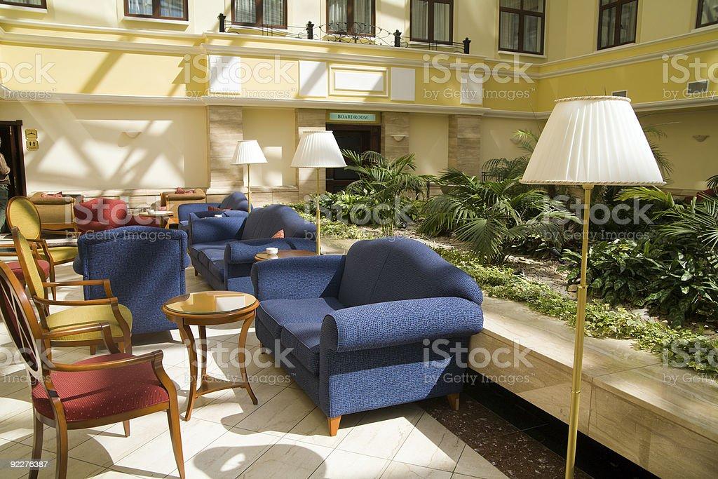 Modern hotel lobby royalty-free stock photo