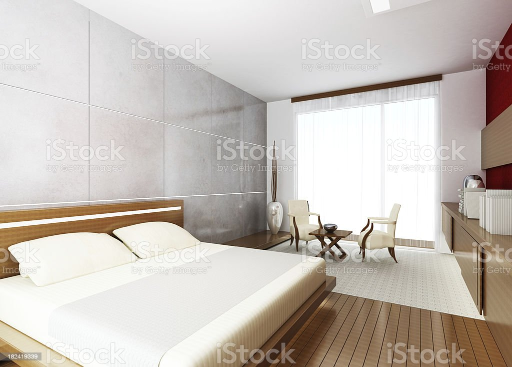Modern Hotel Room royalty-free stock photo