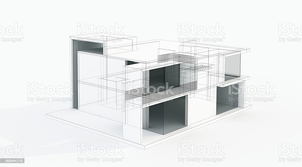 3d residential wiring 3d image wiring diagram modern house 3d model concept wire frame rendering stock photo on 3d residential wiring