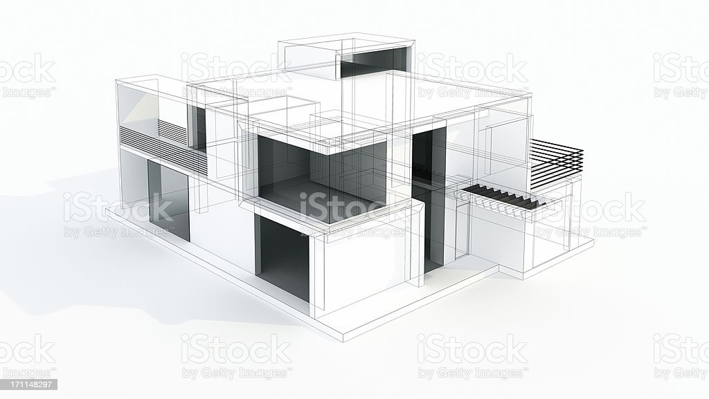 3d residential wiring 3d image wiring diagram modern house 3d model concept wire frame rendering project stock on 3d residential wiring