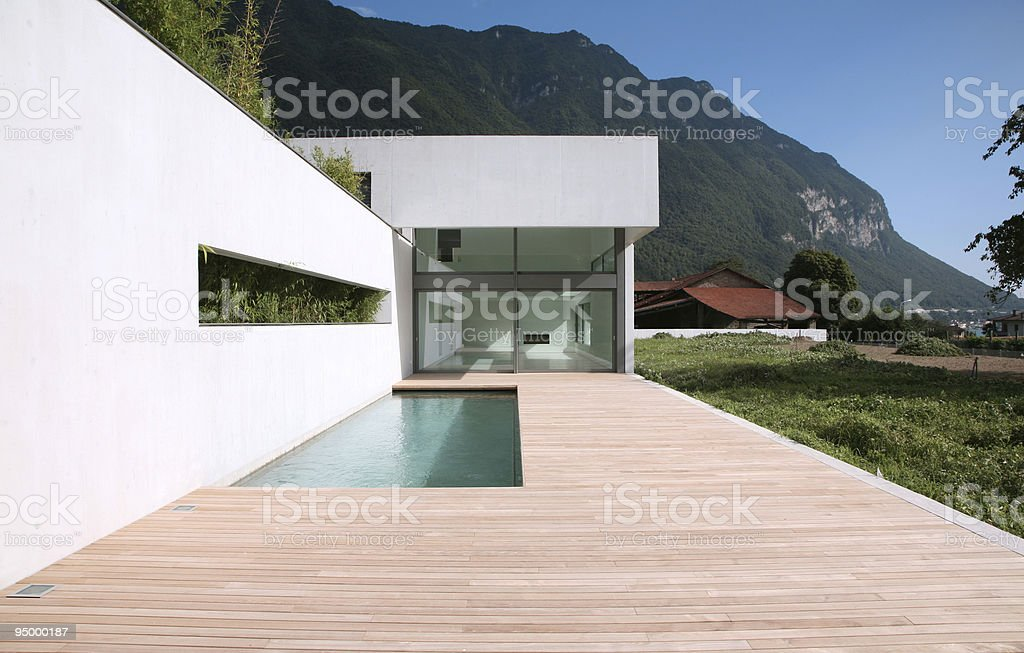 Modern house, architectural view royalty-free stock photo