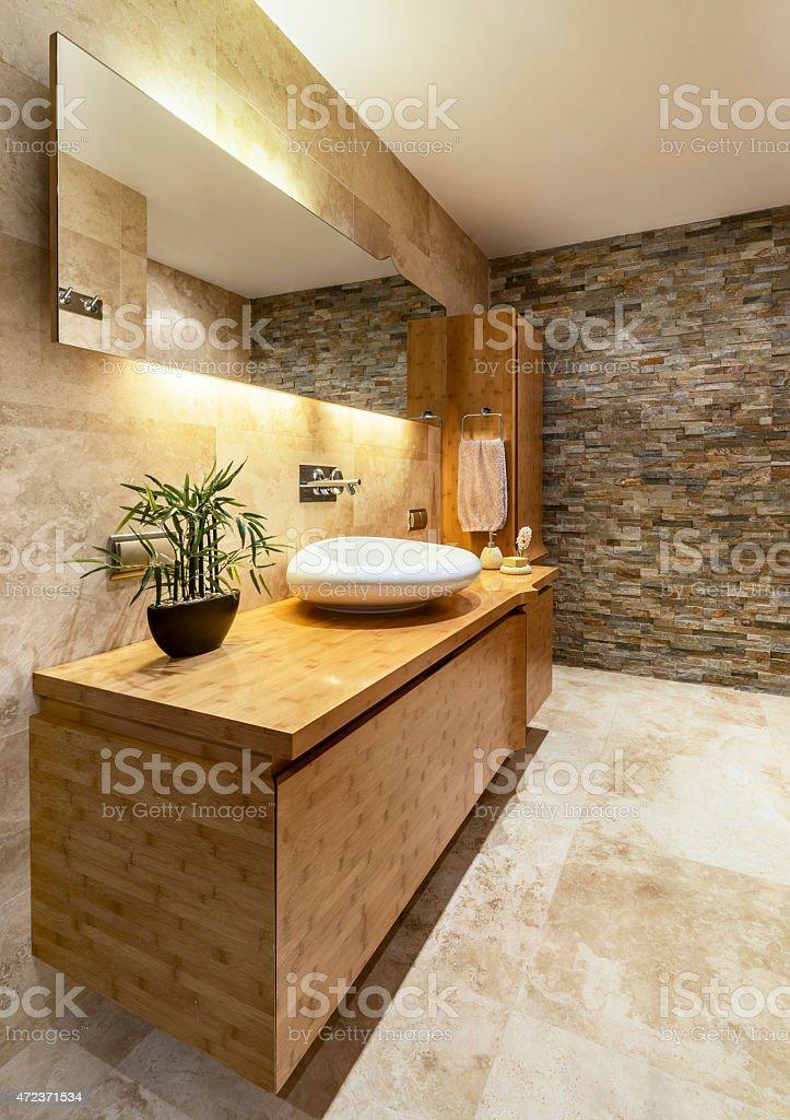 Modern house bathroom interior stock photo