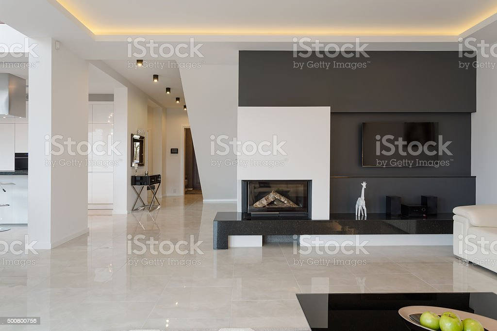 Modern house in minimalistic design stock photo