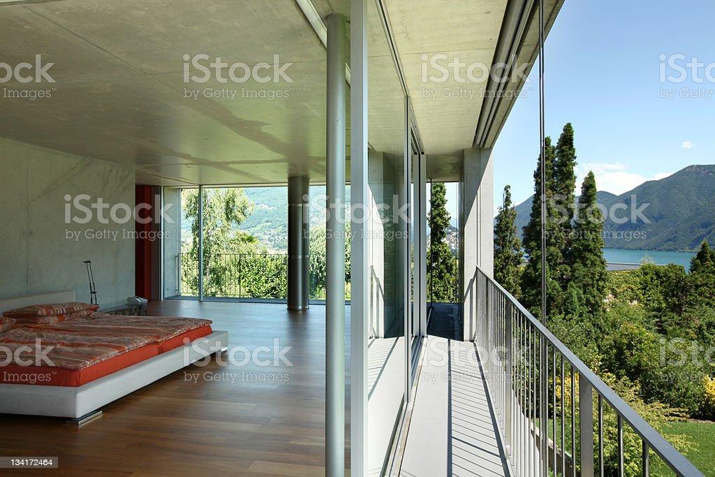 modern house interior, balcony view royalty-free stock photo