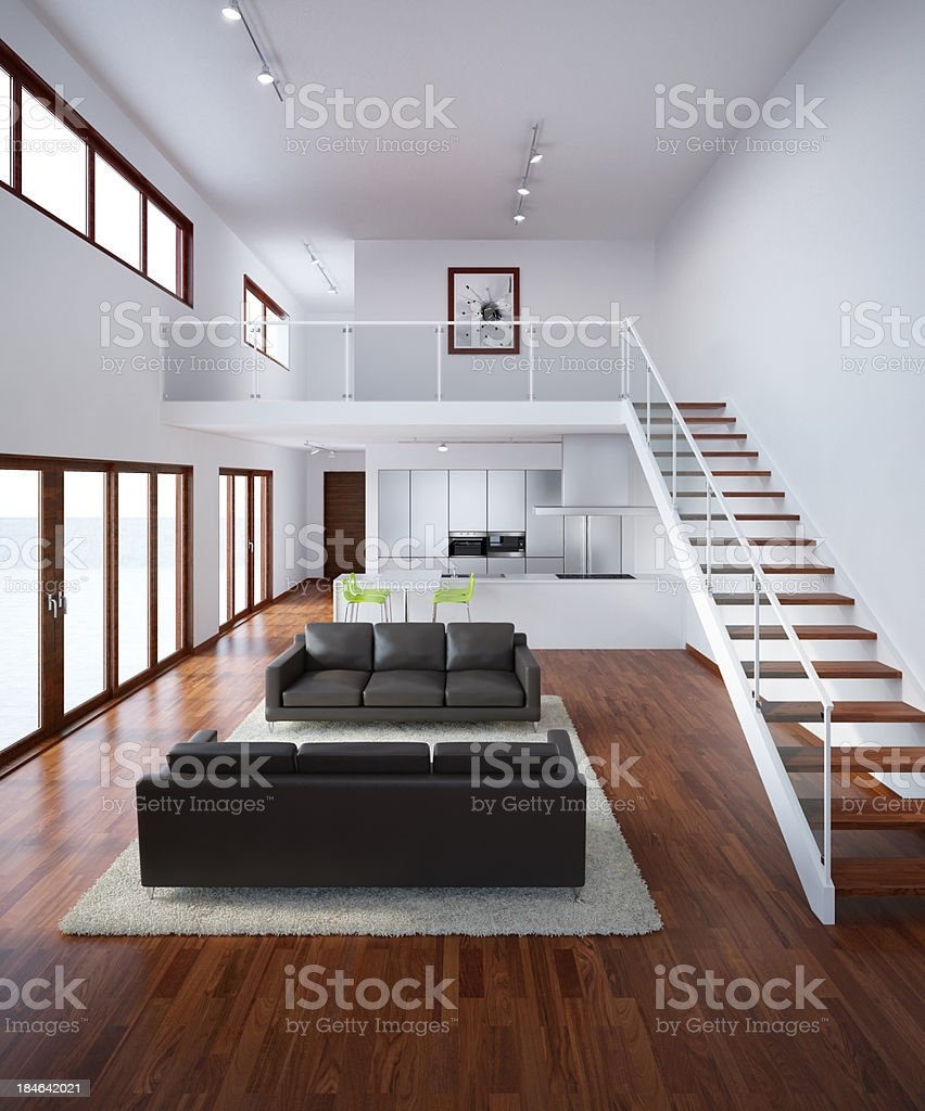 Modern House Interior stock photo
