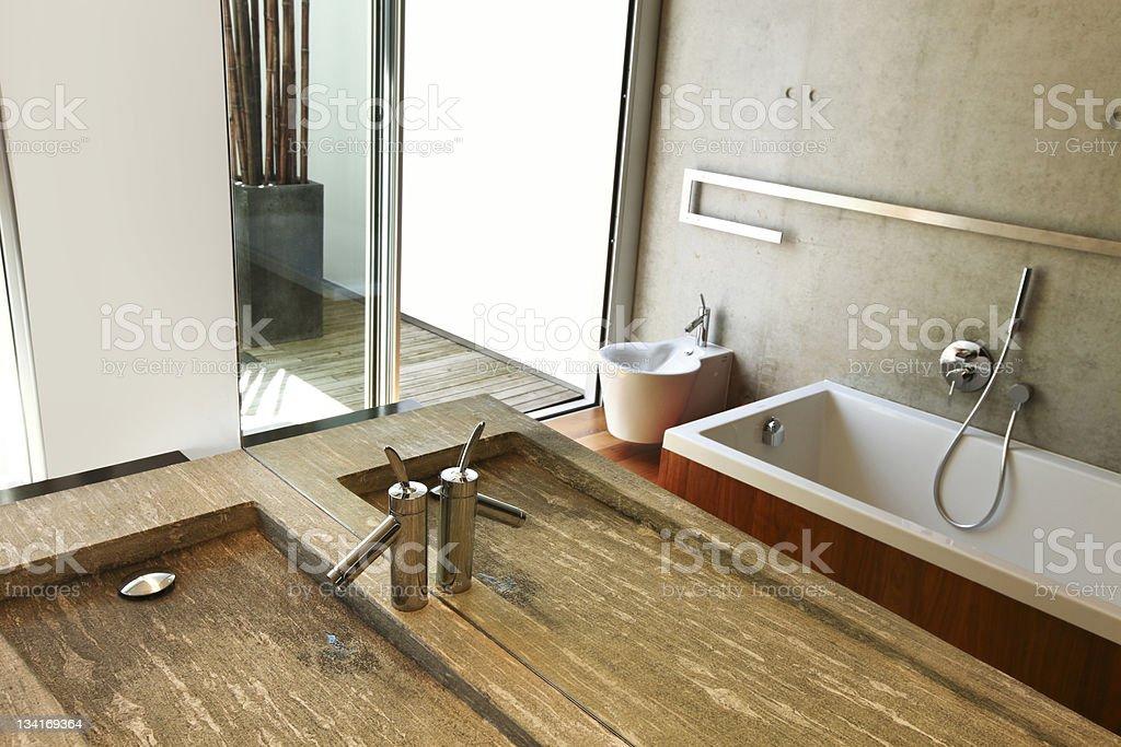 modern house interior, sink royalty-free stock photo