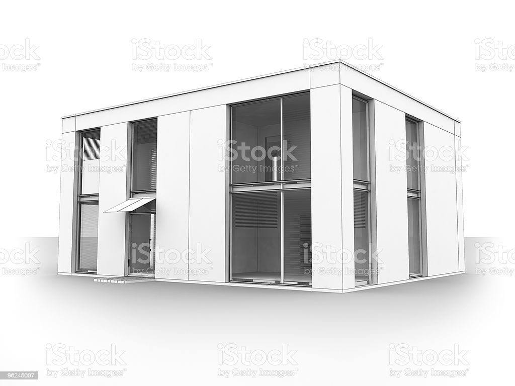 Modern house isolate royalty-free stock photo