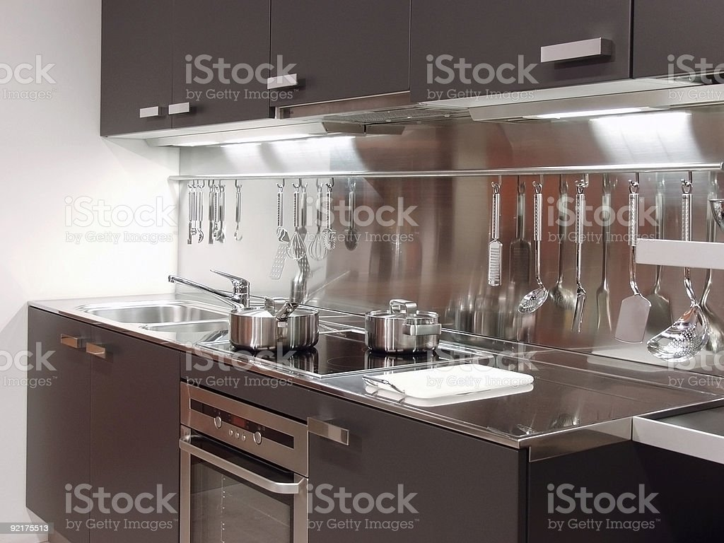 Modern house Kitchen design royalty-free stock photo